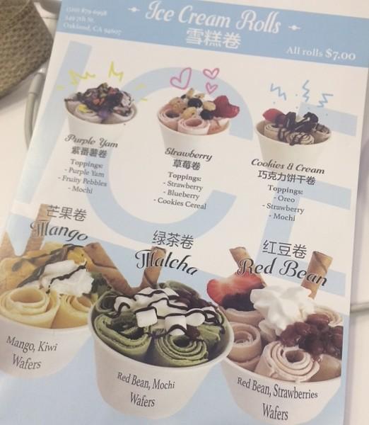 Some of Freezing Point Creamery's ice cream rolls.