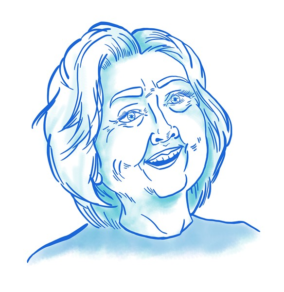 Hillary Clinton for president. - ILLUSTRATION BY ROXANNE PASIBE