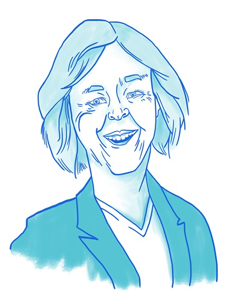 Nancy Skinner for state Senate. - ILLUSTRATION BY ROXANNE PASIBE