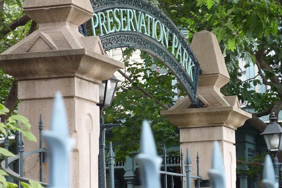 Preservation Park is a sorta-secret urban oasis in downtown Oakland. - RONALD OWENS