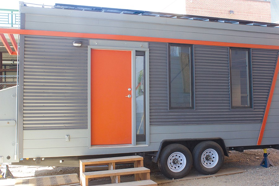 In Oakland, city council recently contracted Laney College to build prototype tiny homes. - HAYDEN BRITTON