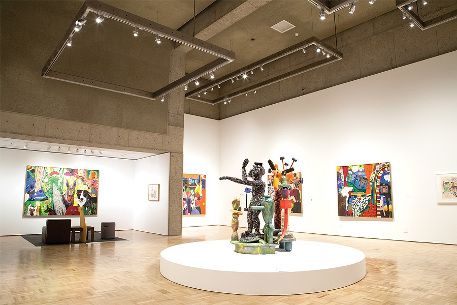 Paintings and sculptures on display at the De Forest retrospective. - COURTESY OF THE OAKLAND MUSEUM OF CALIFORNIA