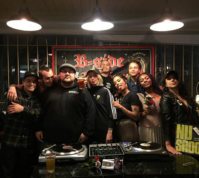 Suavecito Souldies crew (left) and B-Side Brujas (right). - PHOTO COURTESY OF B-SIDE BRUJAS