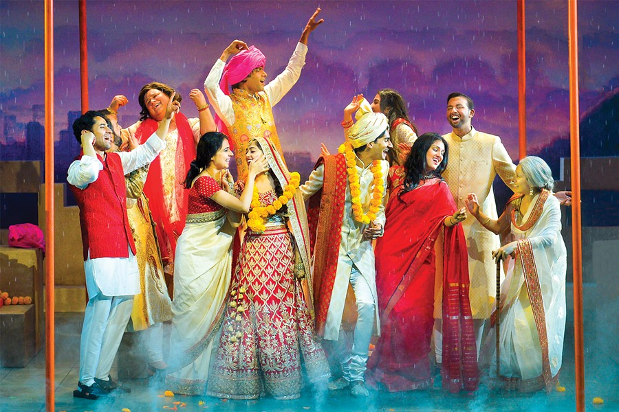 The cast of Monsoon Wedding. - PHOTO COURTESY OF KEVIN BERNE/BERKELEY REPERTORY THEATRE