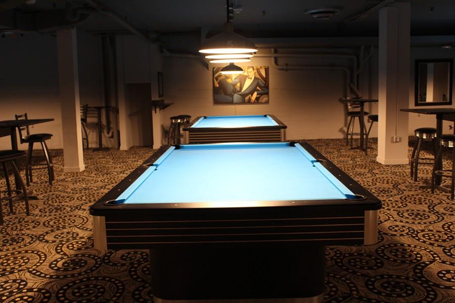 Draw Billiard Club's pool hall is literally underground. - JANELLE BITKER