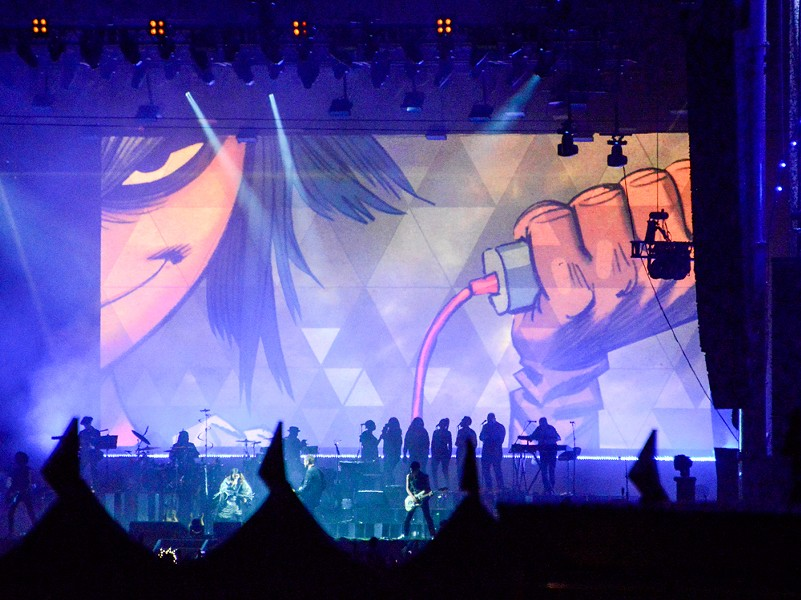 Gorillaz delivered a multi-media spectacular. - BRIAN BRENEMAN