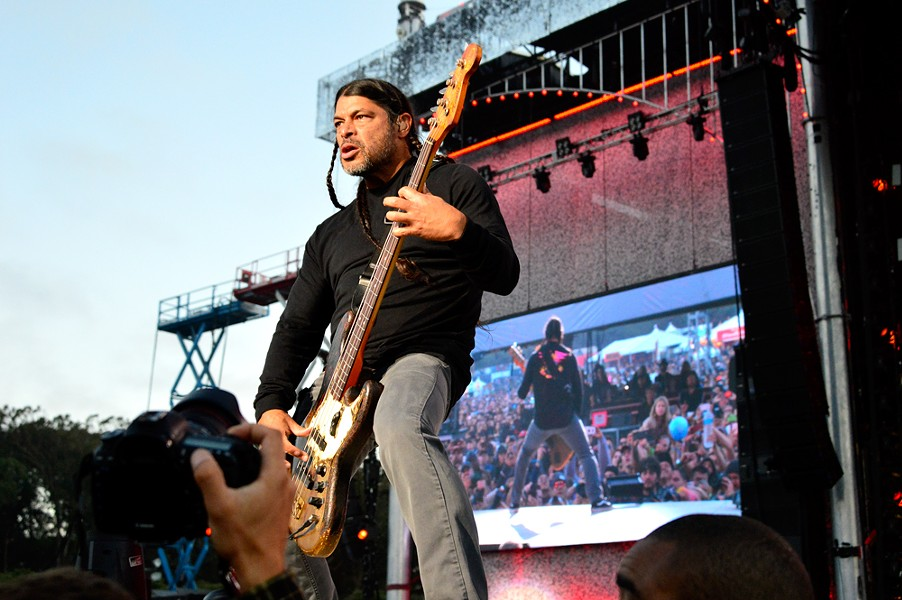 Robert Trujillo of Metallica - PHOTO BY BRIAN BRENEMAN