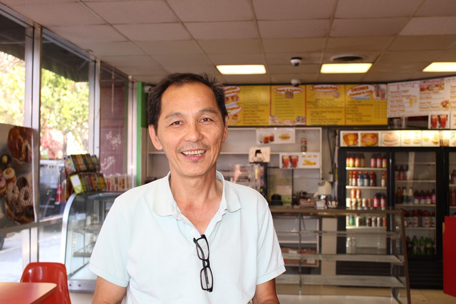 Andy Ung, as pictured on his doughnut shop's final day in business. - JANELLE BITKER