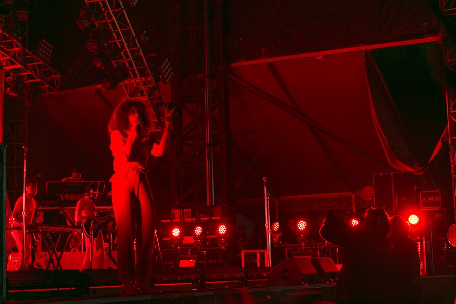 Solange closed out the night with one of the best sets of the festival. - PHOTO BY AMIR CLARK