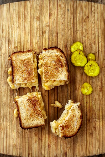 Yep, that's macaroni inside a sandwich. - COURTESY OF THE AMERICAN GRILLED CHEESE KITCHEN