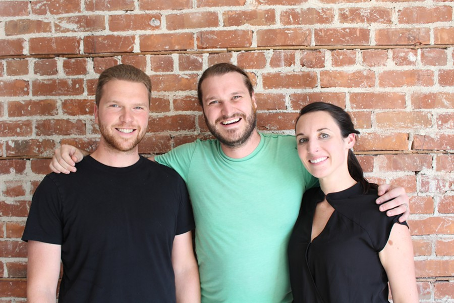 Max Silverstein, Ryan Frank, and Caitlin O'Connor (from left to right) make up two-thirds of the Original Pattern team. - JANELLE BITKER