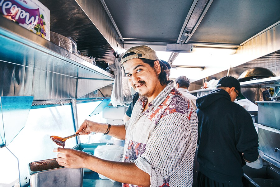 Enrique Soriano has big dreams for his Fruitvale food truck. - PHOTO BY KALA MINKO