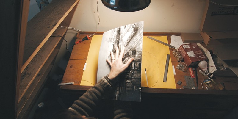 LEAD READ: Book artist Peter Koch's 'Liber Ingus,' featured in 'The Book Makers,' is made entirely of lead.