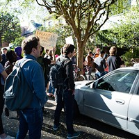 Protest at Peter Thiel's Mansion