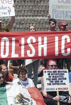 Protesters marched for 12 hours in front of the West County Detention Facility on June 26.