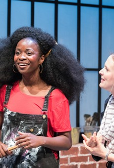 StudioSantoya Fields (left) plays actor Vanessa posing as artist Balkonaé to fool a curator played by Luisa Frasconi.