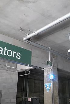 BART police installed ALPR cameras in the MacArthur Station Parking Garage.