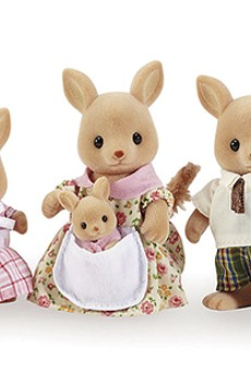 Calico Critters recently added a kangaroo family.