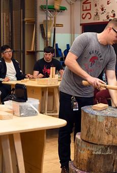 Nick Beasley teaches at Skyline High School's new Fab Lab.