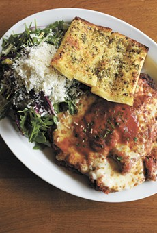 The veal parmesan