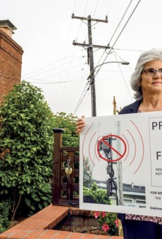 Alexis Schroeder worries that 5G antennae must be placed too close to people.