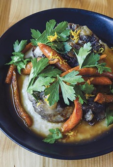 The oxtail and grits have Southern and Italian roots.