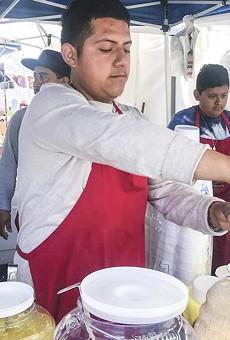 Cesar Gonzalez of Raspados La Piña.