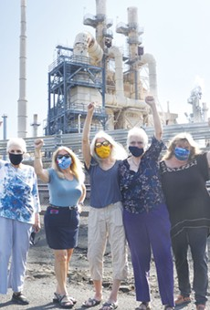 OIL CHANGE: Local residents stand tall in front of the Phillips 66 refinery, which will become the world's biggest producer of renewable fuels by 2024.