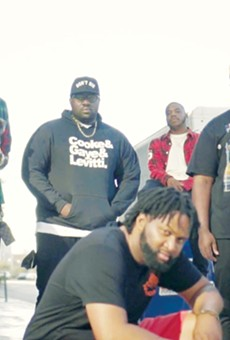CREW FIRST: Kevin Allen, far right, says he brought together friends and colleagues over his two-decade-plus career to form Grand Nationxl, a distinctively East Bay rap collective formed in the mold of other great hip-hop crews.
