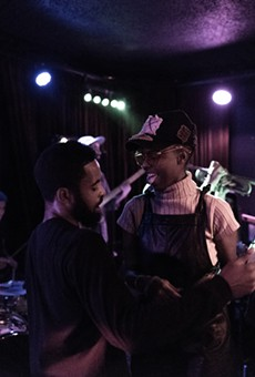 Rappers Jay Stone and Queens D.Light at The Night Light.