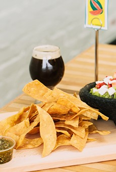 Chips and guac, and brew, arrive in the Laurel.
