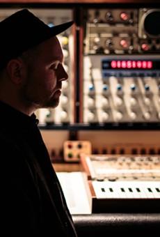 DJ Shadow in his home studio.