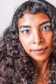 Spellling (aka Tia Cabral) is a self-taught musician who composes with a loop pedal.