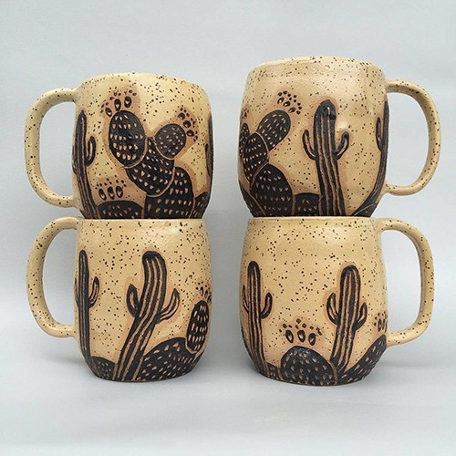 The cacti mug is made by hand. - PHOTO COURTESY OF RESURRECT