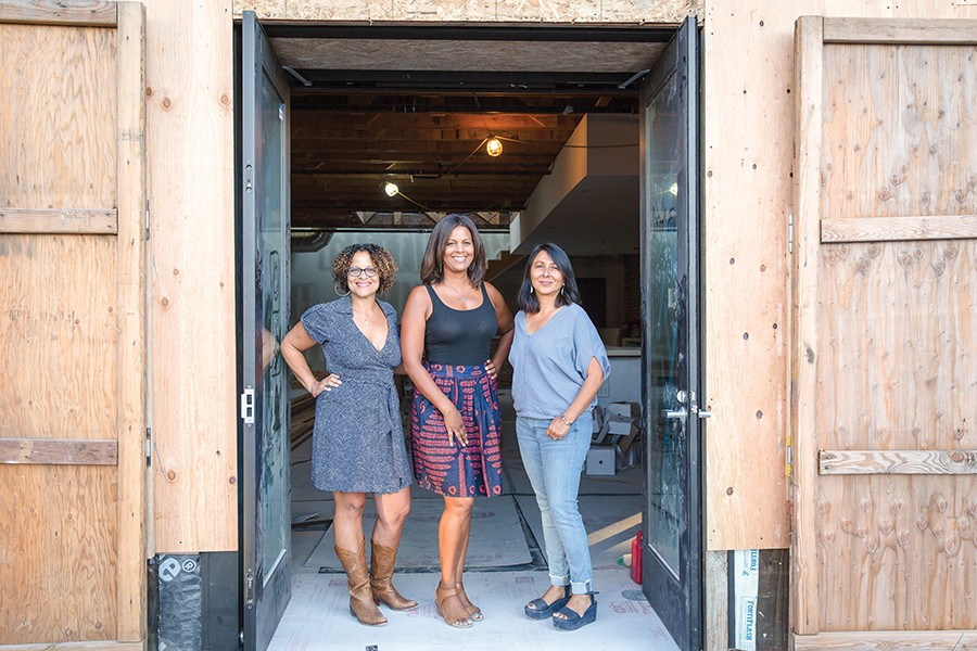 Sandra Davis (left), Lea Redmond, and Anna Villalobos opened Oeste in December. - PHOTO COURTESY OF HANH NGUYEN