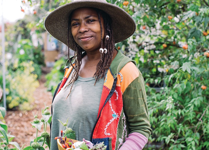 Kanchan Dawn Hunter of Spiral Gardens said farming has helped heal her relationship to the planet and other people. - PJOTO BY ANDRIA LO