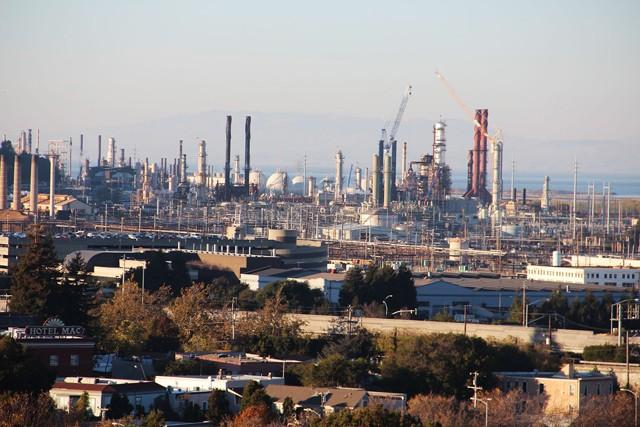 The Chevron refinery.