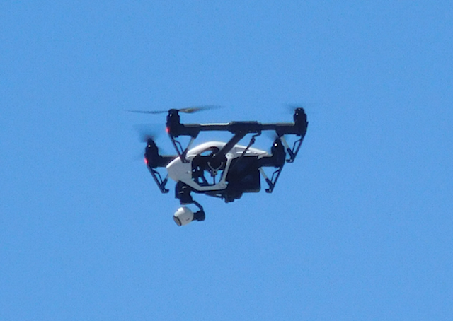 The Contra Costa Sheriff's drone appears to be a DJI Inspire. Federal officials have alleged that DJI is helping China spy on U.S. law enforcement and critical infrastructure.