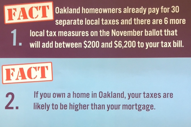 """An excerpt from one of the ACTA mailers states """"there are 6 more local tax measures on the November ballot."""""""