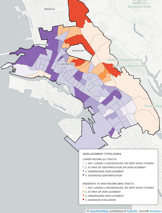 Uc Berkeley Researchers Map Oakland Gentrification And Displacement East Bay Express San rafael's canal area comes under examination as gentrification and displacement pressures affect the neighborhood. uc berkeley researchers map oakland