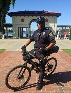An Oakland police officer patrolling Lake Merritt. - OAKLAND POLICE DEPARTMENT