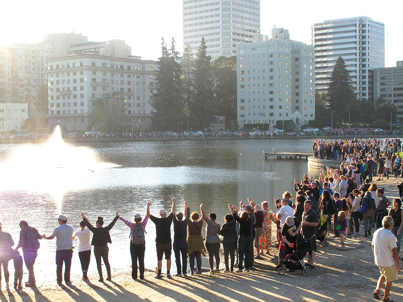 Before activists held hands around Lake Merritt, it was a destination for feces.