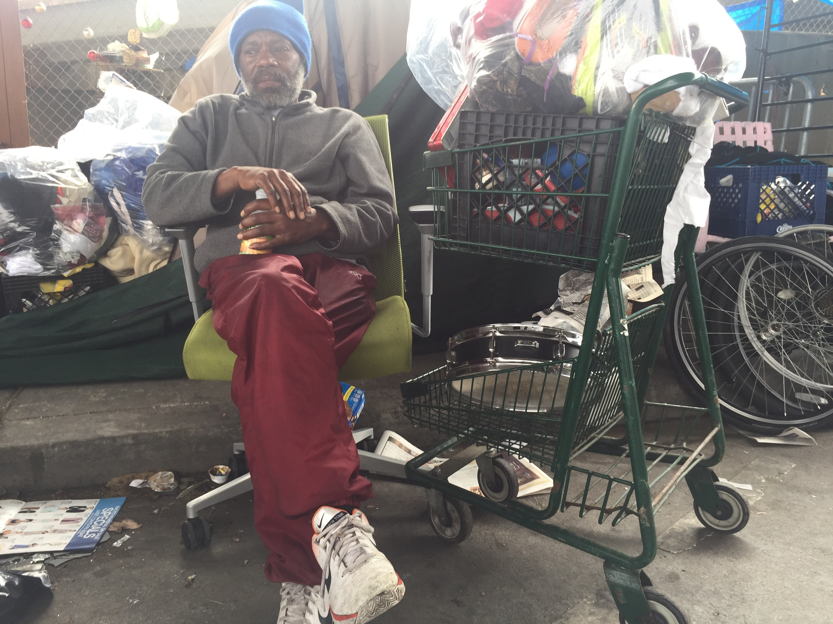click to enlarge Marcus Emery 53 says he lost family photos clothes old coins & City of Oakland u0027Bulldozeru0027 Hit A Homeless Man While He Was ...