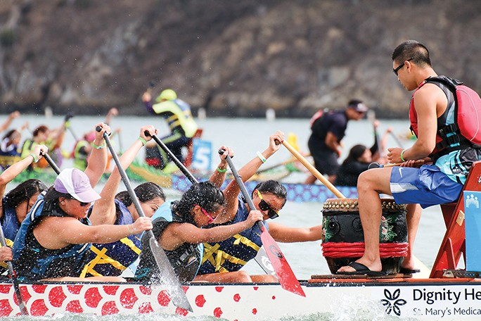 The Northern California International Dragon Boat Festival comes to Lake Merritt on Saturday, Sept.23 and Sunday, Sept. 24. - IMAGE COURTESY OF CDBA
