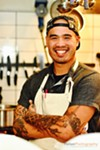 Chef Tu David Phu, ready to roll.
