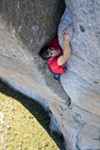 Alex Honnold clings to the face of El Capitan in <i>Free Solo</i>