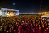 The music festival's new location boasted a glittering view of the San Francisco skyline.