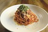 Spaghetti with sugo is always on the menu at Mama.