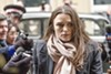 Keira Knightley does the perp walk in <i>Official Secrets</i>.