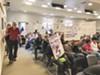 Homeless advocates at a recent Berkeley council meeting.
